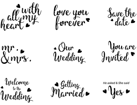 Modern calligraphy for wedding and others. Quote calligraphy.
