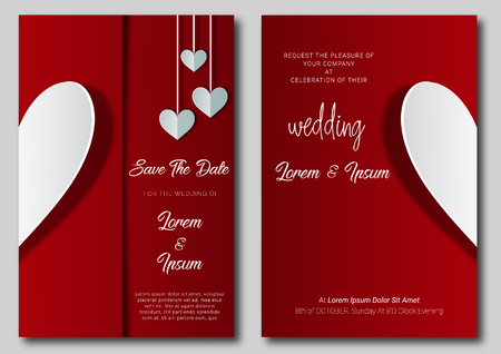 wedding invitation card template design and illustration.