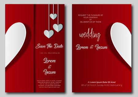 wedding invitation card template design and illustration.