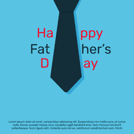 Happy fathers day template,poster and card design illustration