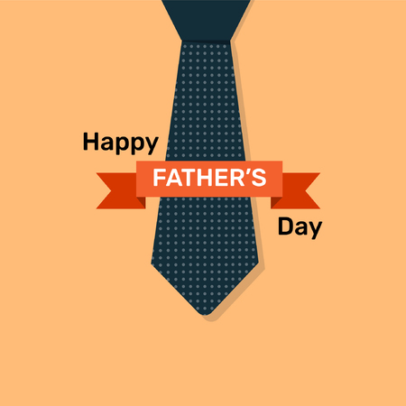 Happy fathers day poster, card and template design illustration.