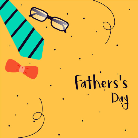 Fathers day template and poster design illustration. Illustration
