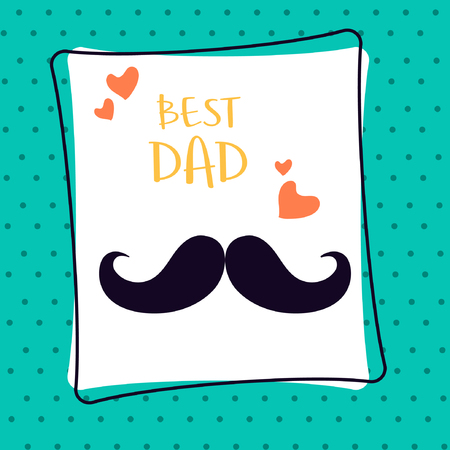 Best dad template and card design illustration.