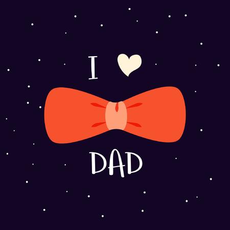 I love dad poster, card and background design illustration.
