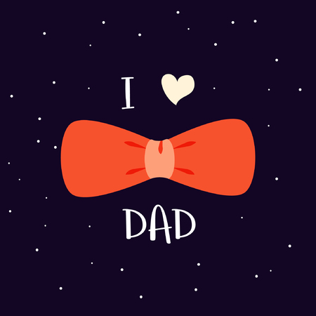 I love dad poster, card and background design illustration.