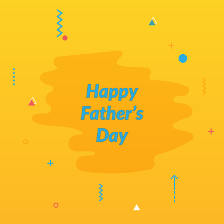 Happy fathers day template,poster and card design illustration. Illustration