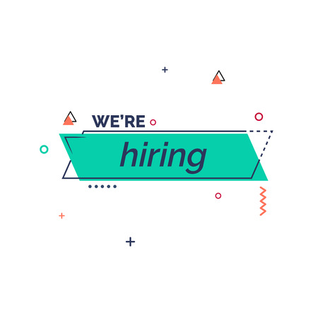 Were hiring vector template design and illustration. Illusztráció