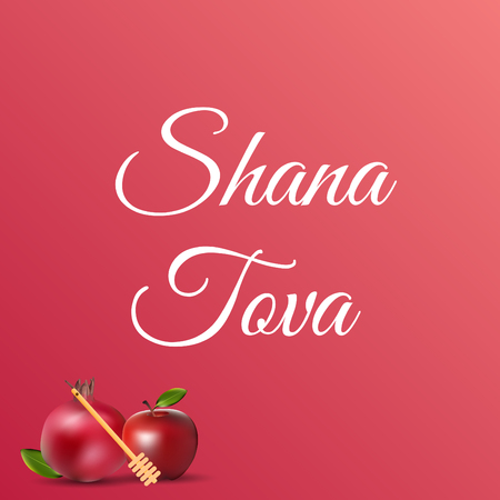 Shana tova template poster and greeting card design . jewish holiday