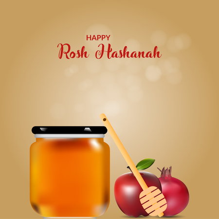 Happy Rosh Hashanah jewish holiday fest. poster and template design. Illustration