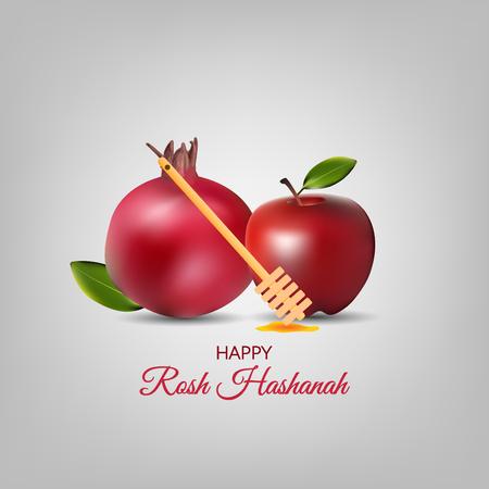 Vector - honey drips with Shana Tova Greetings in Hebrew. Rosh Hashanah card. illustration Illusztráció
