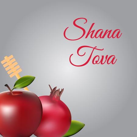 Rosh Hashanah template, greeting and cover design. Jewish holiday greeting card