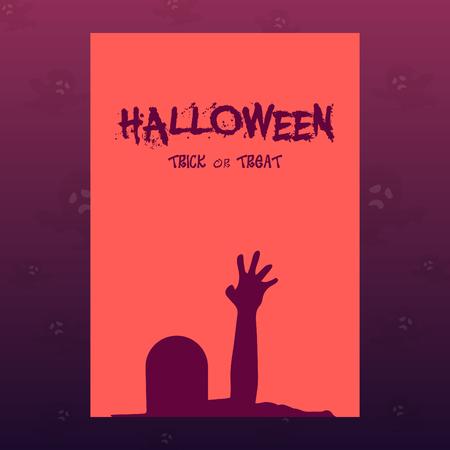 Halloween vector template design. Illusztráció