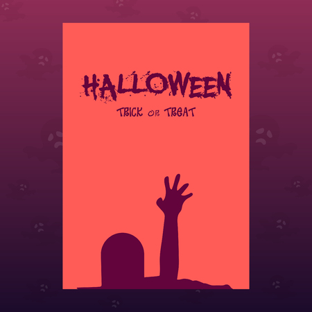 Halloween vector template design. Illustration