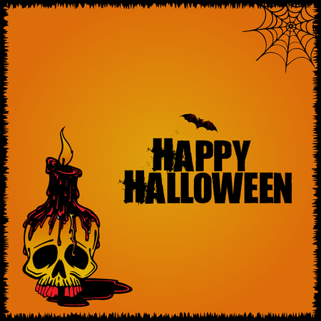 Happy halloween poster, wallpaper vector design and illustration.