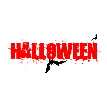 Halloween blood red scary text for wallpaper and invitation card.