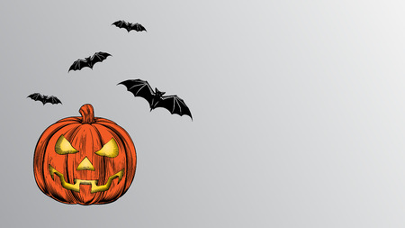 Halloween scary pumpkin vector design.