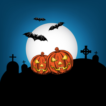Halloween flyer, poster and invitation card design and illustration. Illusztráció