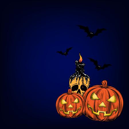 Happy halloween poster, wallpaper, invitation card vector design.