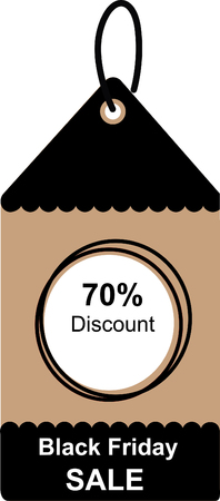 Black friday sale tag design for shopping.