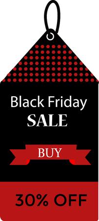 Black friday sale price tag design. Illusztráció