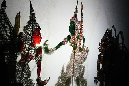 kulit: Wayang Kulit Stock Photo