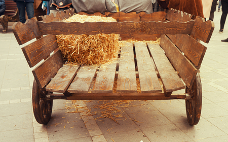 Old horse drawn wooden cart