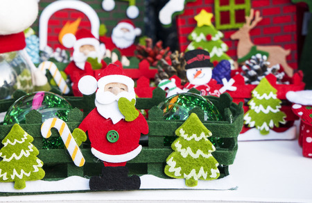 christmastime: Santa Claus bring the sack with gifts for christmas Stock Photo