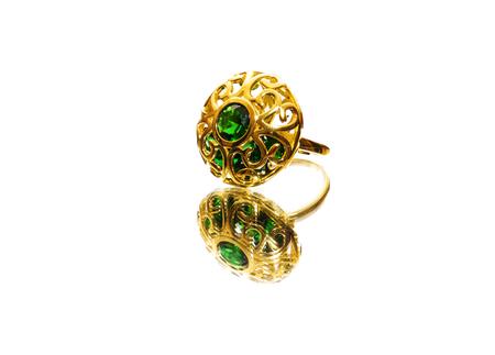 beautiful antique Oriental Turkish gold jewelry women ring