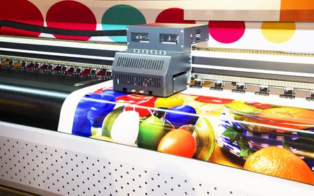 Wide-format inkjet printer, close up