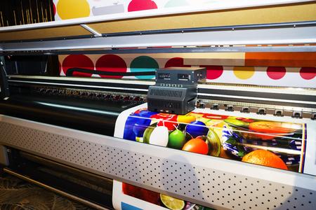 Impresora de inyección de tinta de gran formato, cerrar Foto de archivo