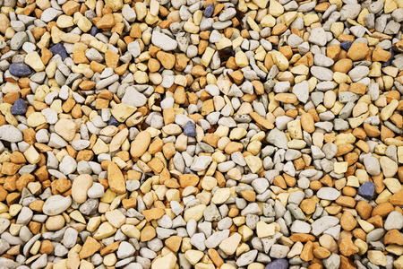 yellow white gravel, fine natural stone, background texture Stock Photo