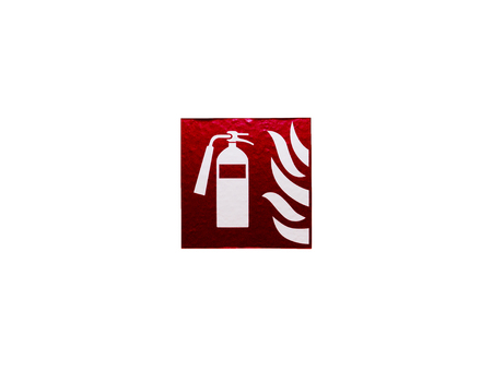 The Symbol of fire extinguisher isolated on white background