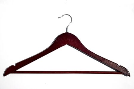 Wooden coat hanger isolated on white background Stock fotó