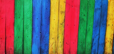 Wall of colored boards, texture, background ,Colorful Wood plank,