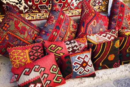 Oriental,Turkish,AzerbaijaniArabic Indian beautiful handmade pillows Stock fotó