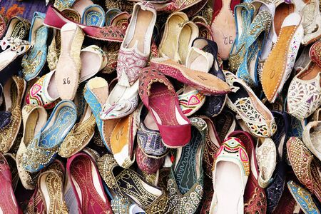 A lot of old oriental ,turkish handmade women shoes