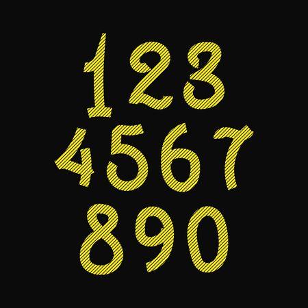 Stylish number set design vector graphic element Vektorové ilustrace