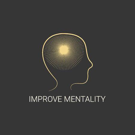 mentality improve logo design
