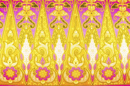 batik motif: The beautiful of art Malaysian and Indonesian Batik Pattern Stock Photo