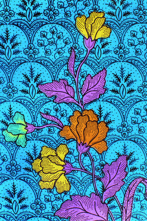 sarong: The beautiful of art Malaysian and Indonesian Batik Pattern Stock Photo