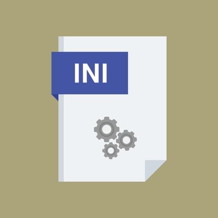 ini: INI File  Format type extension