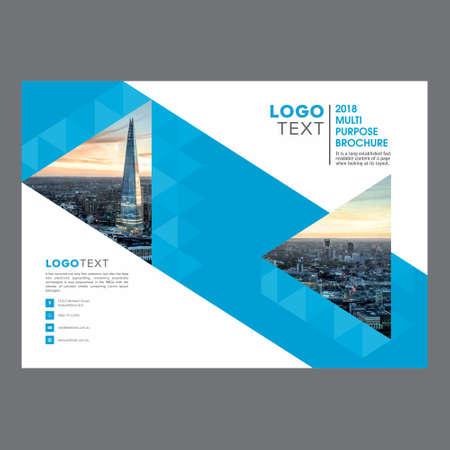 Plantilla de diseño de folleto moderno corporativo Ilustración de vector
