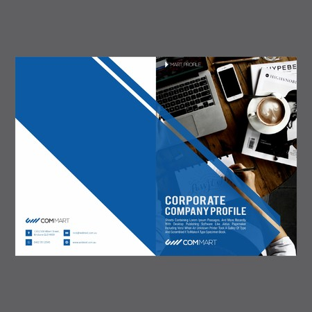 Professional Corporate Brochure Иллюстрация