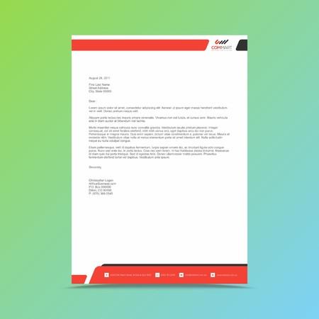 Professionelle Briefkopf-Designvorlage