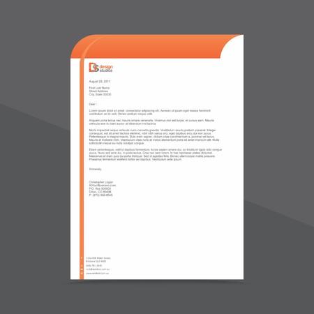 Professional Letterhead Design Template 向量圖像
