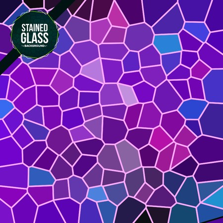 Multicolor Broken Stained Glass background Vector Illustration
