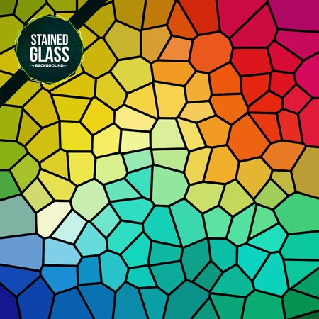 Multicolor Broken Stained Glass background