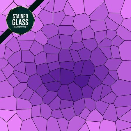 Sfondo di vetro colorato rotto multicolore