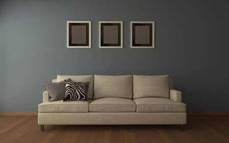 Realistic Mockup of living room Interior