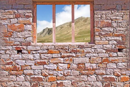 Stone Wall with Window